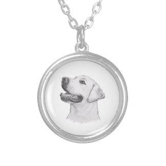 Collier Dessin classique de profil de chien de labrador