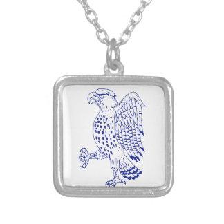 Collier dessin de marche Pointu-shinned de faucon