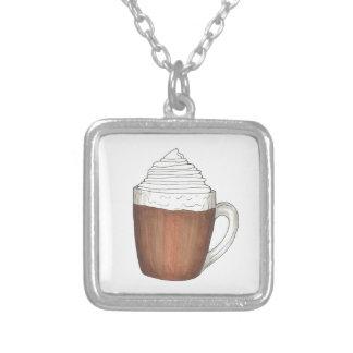 Collier d'hiver de Noël de cacao de chocolat chaud