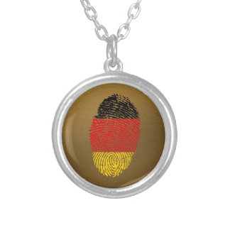 Collier Drapeau allemand d'empreinte digitale de contact