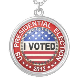 Collier Élection présidentielle 2012 où j'ai votée