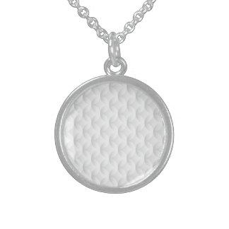 Collier En Argent Cercle blanc de relief