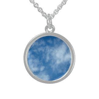 Collier En Argent Ciel bleu avec des nuages