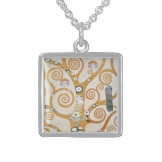 Collier En Argent Gustav Klimt l'arbre de l'art Nouveau de la vie
