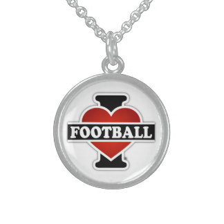 Collier En Argent J'aime le football