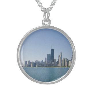 Collier En Argent L'horizon de Chicago