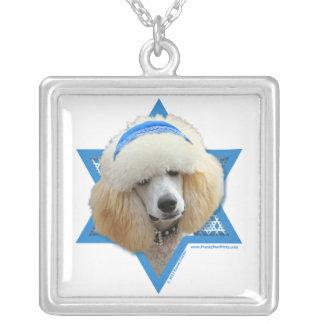 Collier Étoile de David de Hanoukka - caniche - abricot