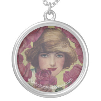Collier Fille rose de cru