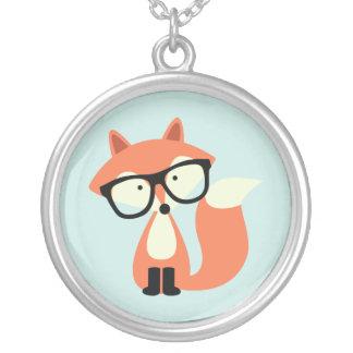Collier Fox rouge de hippie mignon