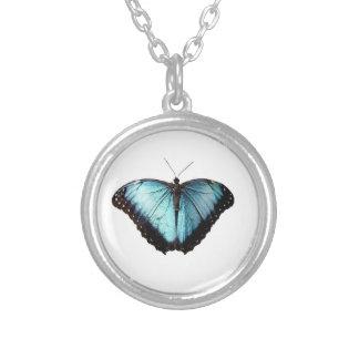 Collier gitan bleu de papillon