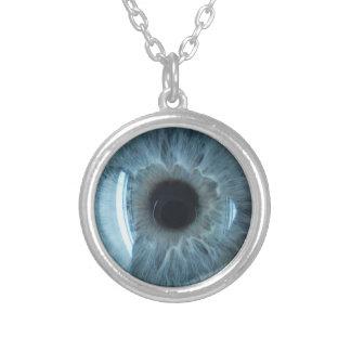 Collier Globe oculaire bleu