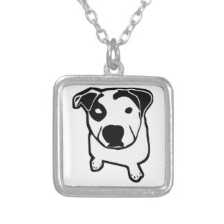 Collier Graphique d'à l'os de pitbull