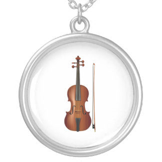 Collier Graphique réaliste de violon et d'arc