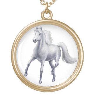 Collier gris tacheté fier de cheval