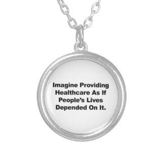Collier Imaginez les vies des personnes de soins de santé