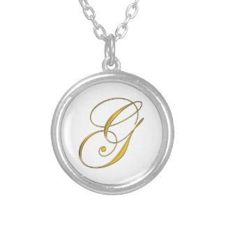 Collier initial de monogramme d or de G