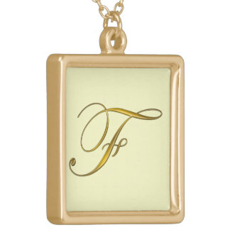 Collier initial des monogrammes F d or