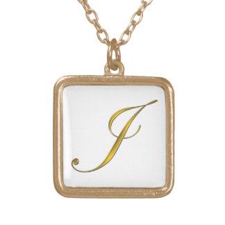 Collier initial du monogramme J d'or