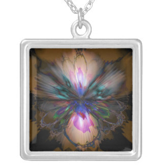 Collier Iris de paon