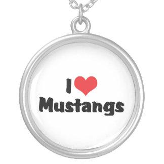Collier J'aime des mustangs de coeur - amant de cheval