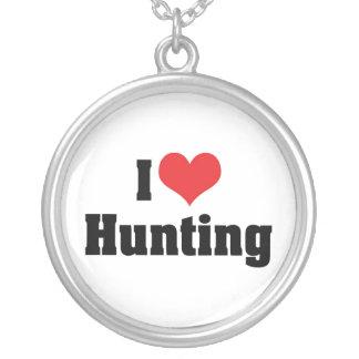 Collier J'aime la chasse de coeur - chasseur de sport