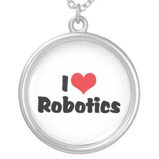 Collier J'aime la robotique de coeur - amant de robot