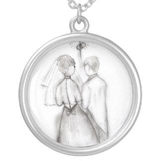 Collier Jeunes mariés illustrés