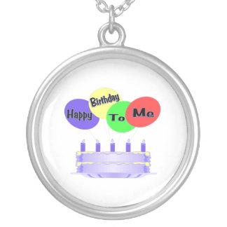 Collier Joyeux anniversaire à moi gâteau et ballons