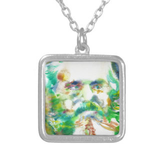 Collier Karl Marx - portrait d'aquarelle