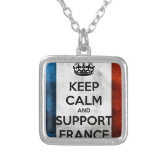 Collier Keep Calm and Support France