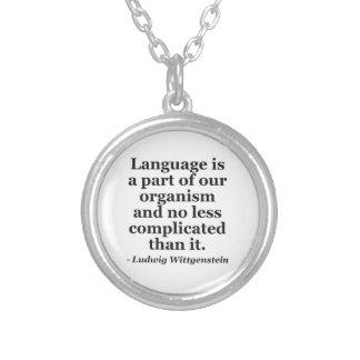 Collier La langue est citation de partie