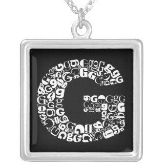 Collier La lettre G d'alphabet
