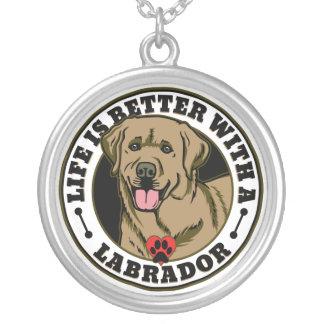 Collier La vie est meilleure avec un Labrador - Tan