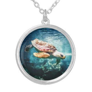 Collier La vie sous-marine merveilleuse de tortue de mer