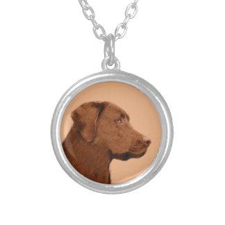 Collier Labrador retriever (chocolat)