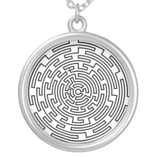 Collier Labyrinthe rond