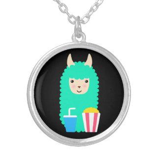 Collier Lama de couleur chamois Emoji de film
