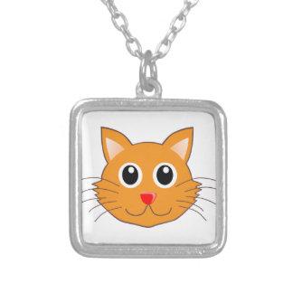 Collier Le chat orange au nez rouge