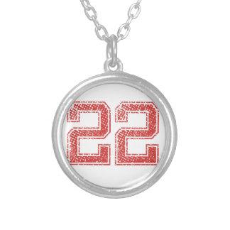 Collier Le rouge folâtre Jerzee le numéro 22