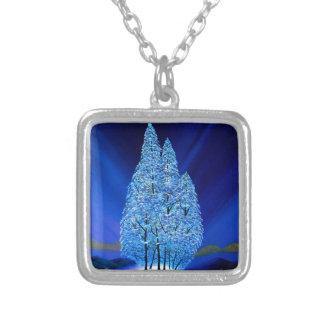 Collier Les lumières du nord de Noël bleu se parent