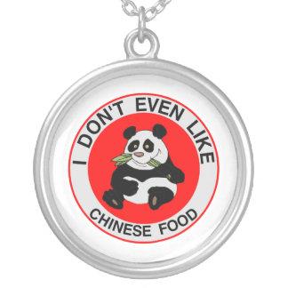 Collier Les pandas n'aiment pas même la nourriture
