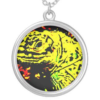 Collier Lézard jaune