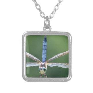 Collier Libellule bleue