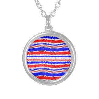 Collier Lignes de ondulation bleues blanches rouges