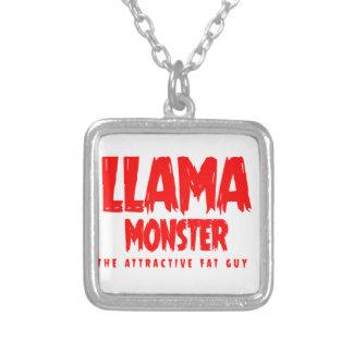Collier Logo de rouge de monstre de lama