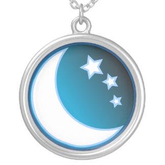 Collier Lune et étoiles
