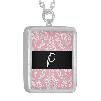 Collier Marchandises roses d'initiales de monogramme