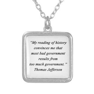 Collier Mauvais gouvernement - Thomas Jefferson
