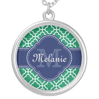 Collier Monogramme marocain blanc de marine de motif de