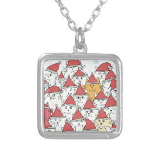 Collier Motif de Noël avec beaucoup de chats drôles